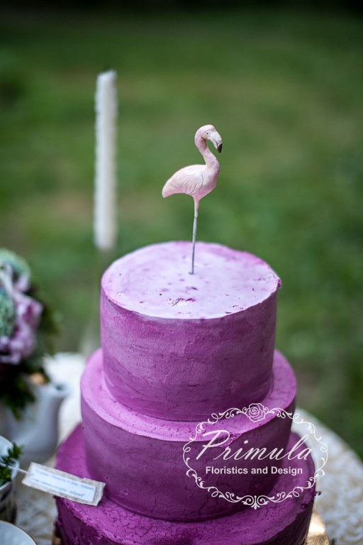 Фламинго из полимерной глины. Автор: Марика Шмидт.
