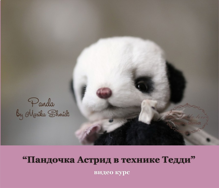 Видео курс панда Тедди Марика Шмидт