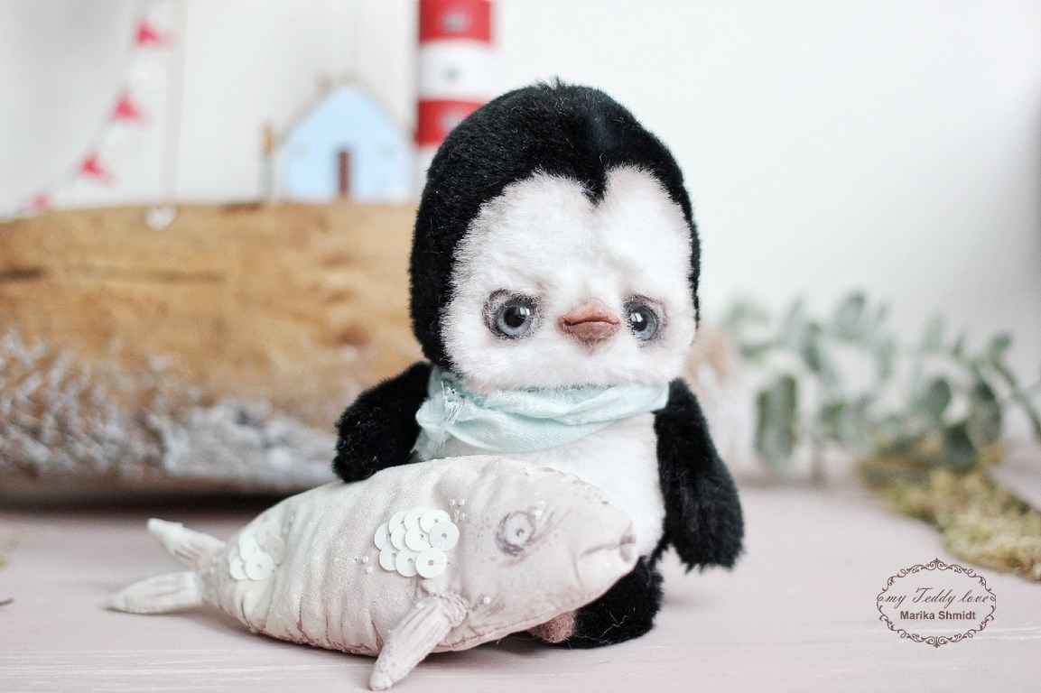 Пингвин тедди от Марики Шмидт
